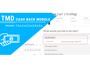 TMD Cashback Module(1.5.x and 2.x )