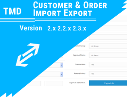 TMD Customer & Order Import Export