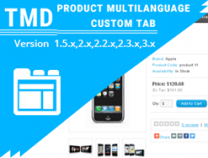 product custom tab Multilanguage