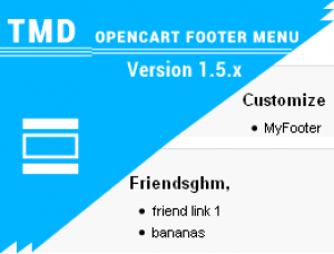 Opencart Footer Menu (Multilanguage supported) 1.5.x