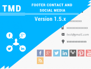 Footer contact and Social media 1.5.x