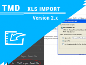 Tmd opencart xls import (1.5.x , 2.x and 3.x)