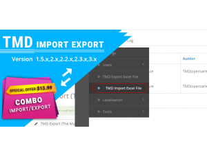 Tmd import and export Multilanguage (1.5.x and 2.x)