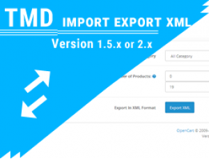 Tmd Import and Export XML ( 1.5.x and 2.x)