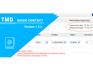 Quick Contact opencart 1.5.x