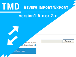 Tmd import and export Product Review (1.5.x and 2.x)