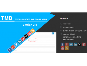 TMD Footer contact and Social media ocmod 2.x