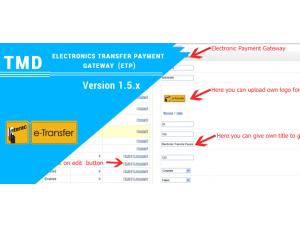 Electronic Transfer Payment Gateway 1.5.x