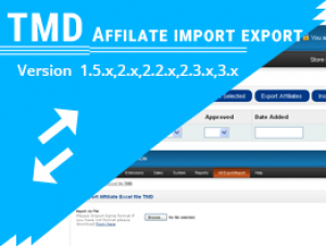 Affiliate import export (1.5.x , 2.x & 3.x)