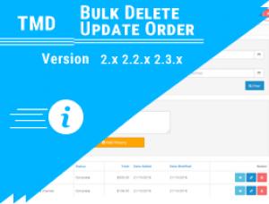 Bulk Delete Update Order Module