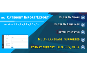 Category Export / Import (multilanguage)