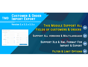 Customer & Order Import Export