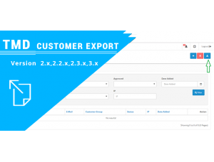 Customer export module 2.x