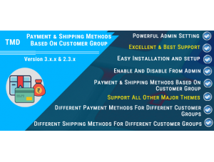 Payment & Shipping Methods Based On Customer Group