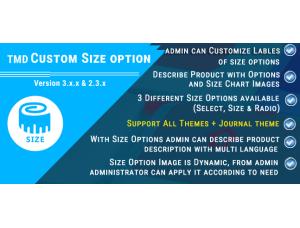 Custom Size option (ocmod & vqmod) 2.x