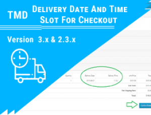 Delivery Date And Time Slot For Checkout