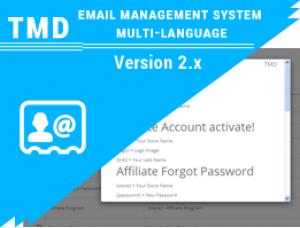 opencart email management system multi-language 2.x