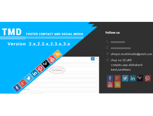 Footer contact and Social media ocmod 2.x
