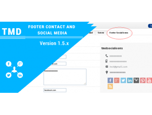 OpenCart Footer contact and Social media 1.5.x