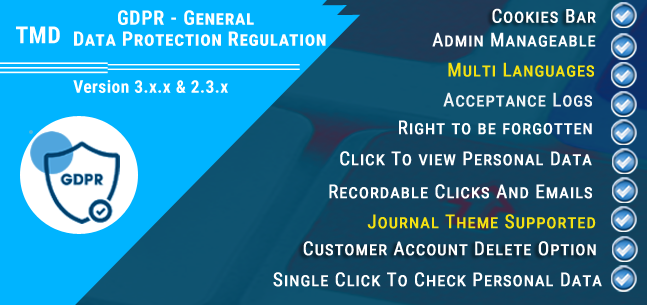 Opencart - GDPR - General Data Protection Regulation