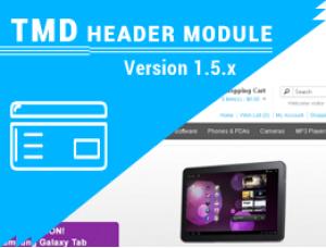 Custom opencart header menu free 1.5.x