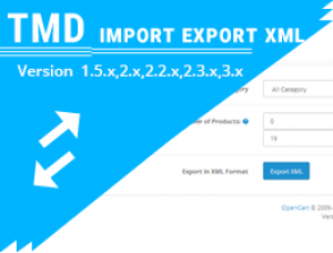 Import and Export XML ( 1.5.x ,2.x & 3.x)