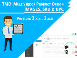 MultiVendor Product Option Image, SKU & UPC