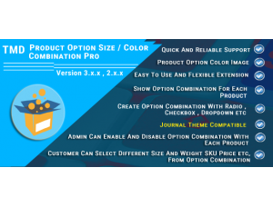 Product Option Size & Color Combination Pro
