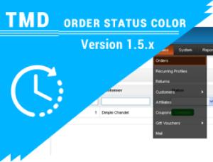 OpenCart Order status color 1.5.x