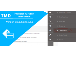 OpenCart  PayVision Payment Integration (2.x.x & 3.x.x)