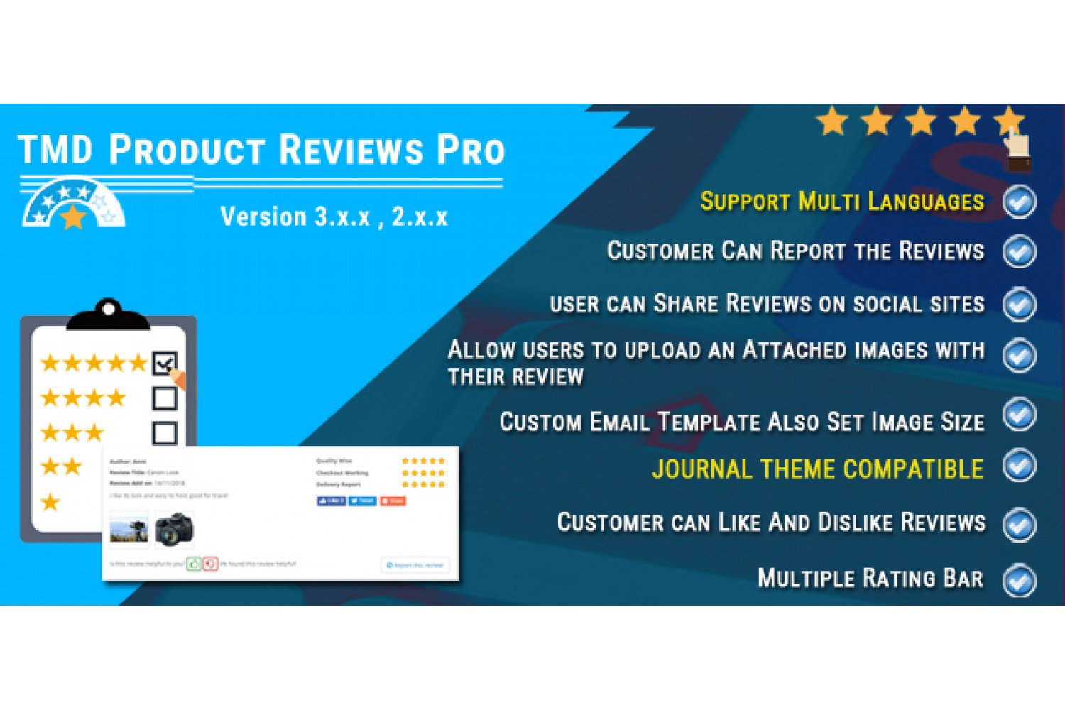 Product Review Template | Opencart Product Reviews Pro