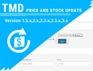 price and stock update with options (1.5.x , 2.x & 3.x)