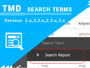 OpenCart Search Terms OCMOD  (2.x & 3.x)