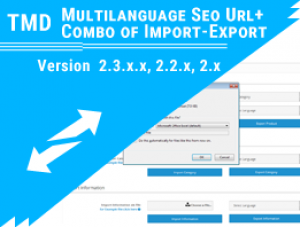 Multilanguage Seo Url + Combo of Import-Export