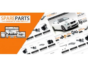 Opencart Spare Parts theme  (2.x & 3.x)