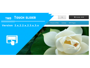 opencart Touch Slider  (2.x & 3.x)