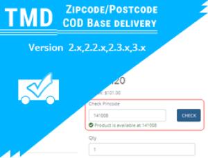 Zipcode/Postcode/COD based on Delivery